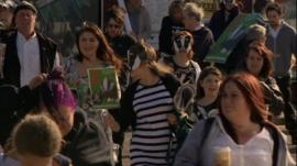 Gloucestershire anti-badger cull protesters