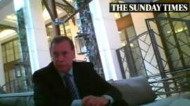 Lord Brian MacKenzie of Framwellgate filmed by the Sunday Times