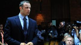 Oscar Pistorius in court in February
