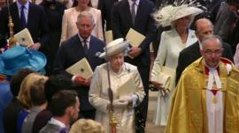 The Queen at Westminster Abbey