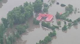 Homes submerged by floodwate