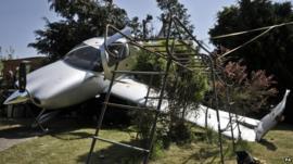 Plane crashed into garden