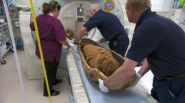 CT scan of a mummy