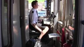 Train driver in Stockholm