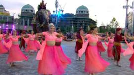 Dancers on the street in Bradford