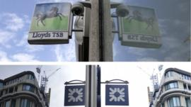 RBS and Lloyds TSB signs