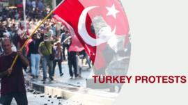 Graphic illustrating Turkey protests