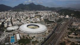 View of Rio's Maracana stadium