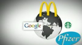 Globe and logos