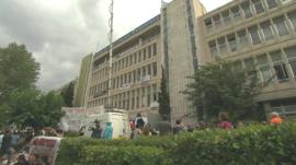 The ERT building in Athens