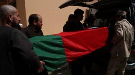 Coffin of Afghan soldier