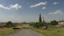 Sheep in rural Turkey