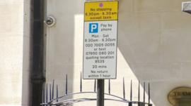 Westminster Council parking sign