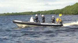 Police on Lough Erne