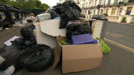 Rubbish on Brighton's streets