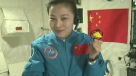 Female astronaut Wang Yaping