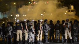 Riot police in Belo Horizonte