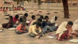 Children at an open air school