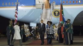 US President Barack Obama arrives