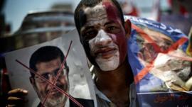 Protester in Tahrir Square