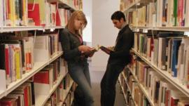 Youths in Library
