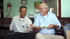 Sam Axelrad and Nguyen Quang Hung, reunited after more than 40 years.
