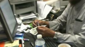Money transfer shop