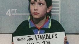 Jon Venables, 10 years of age, poses for a mugshot for British authorities February 20, 1993 in the United Kingdom