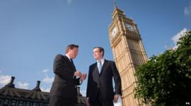 David Cameron and James Wharton