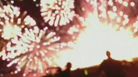 Fireworks blast