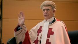 Judge in court