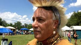 Member of the Chickahominy tribe