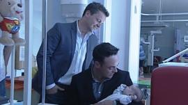 Ant and Dec with baby
