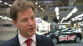Nick Clegg at Toyota in Burnaston, Derbyshire