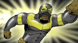 Cartoon of Phoenix Jones
