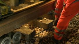 Rail track repairs
