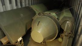 Alleged missile parts