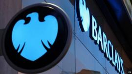 Barclays sign and logo