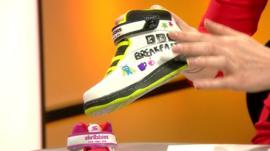 A shoe that children can customise themselves