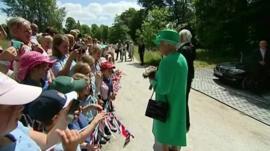 The Queen in Cumbria