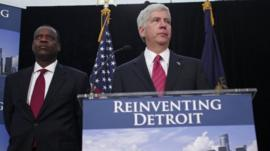 Michigan Gov. Rick Snyder and Detroit's emergency manager Kevin Orr