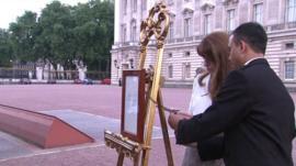 Formal bulletin at Buckingham Palace