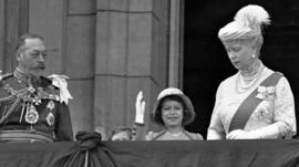 Princess Elizabeth with her grandparents