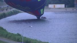 Balloon lands