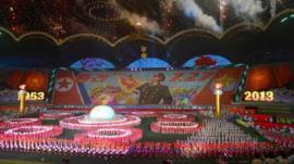 Arirang mass games performance at Pyongyang's May Day Stadium