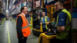 George Osborne and Tesco workers