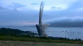Demolition of chimney