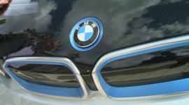 Bonnet of BMW electric car