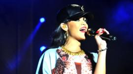 Rihanna performing at Hackney Weekend in 2012