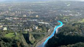 Aerial view of New Cut in Bristol